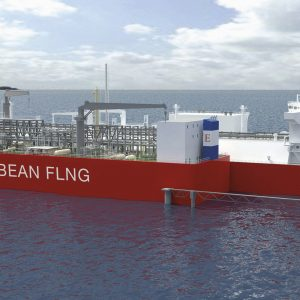 Picture 03 - Rendering of the Caribbean FLNG at its jetty.