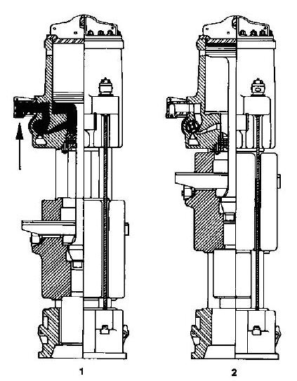 Figure 3-10 Single-Acting Air/Steam Hammer Operating Cycle