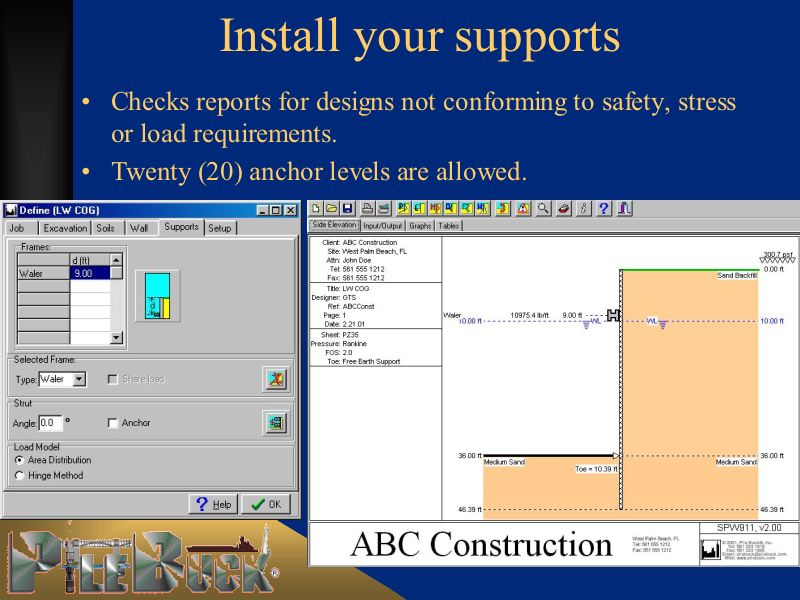 Spw911 Sheet Pile Design Software Pile Buck Magazine