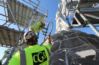 CGS chose high mobility grouting to fill the foundation voids causing ongoing settlement at the Catholic Total Abstinence Fountain in Philadelphia's Fairmount Park.