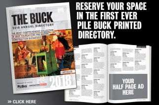 Pile Buck Announces Annual Directory For Deep Foundations and Marine Construction