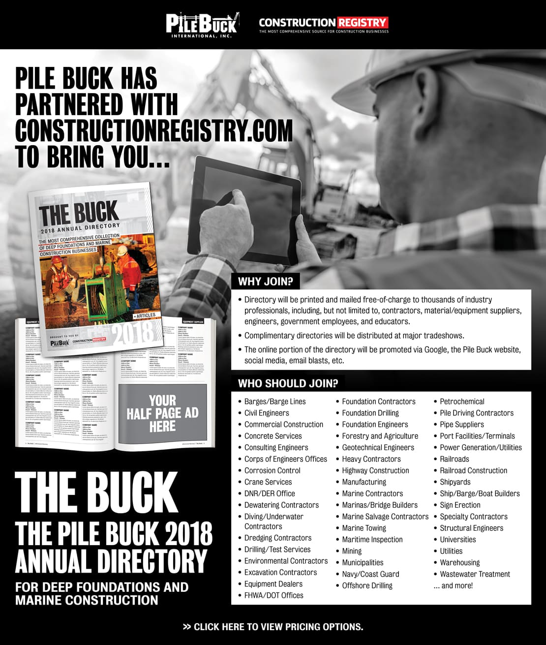 Pile Buck Announces Annual Directory For Deep Foundations
