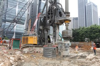 Liebherr LB 44, biggest rotary drilling rig in the Southeast Asian market