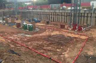 Photo credit: Griffin Dewatering Lyric Center Garage Addition, Houston, TX Wellpoint Dewatering System General Contractor: Gilbane Building Company 2016-2017 Dewatering was completed and system was removed