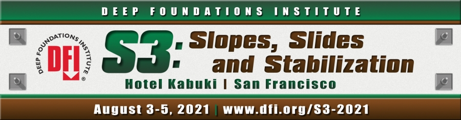 Registration is Open for DFI's S3: Slopes, Slides and Stabilization Conference August 3-5 in San Francisco