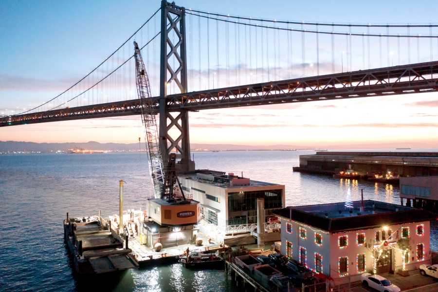 San Francisco Bay - Home of World's First Floating Fire Boat Station