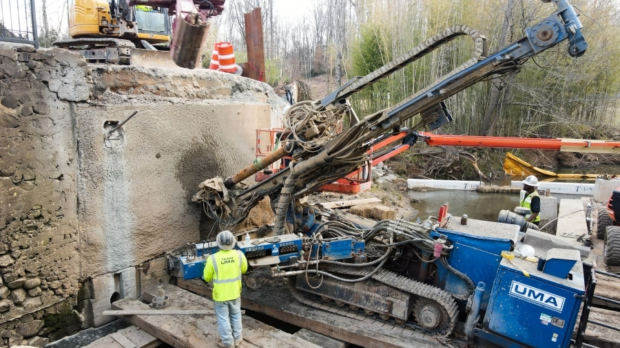 UMA Preserves Vital Retaining Wall Structures for N.C. Bridge Demolition