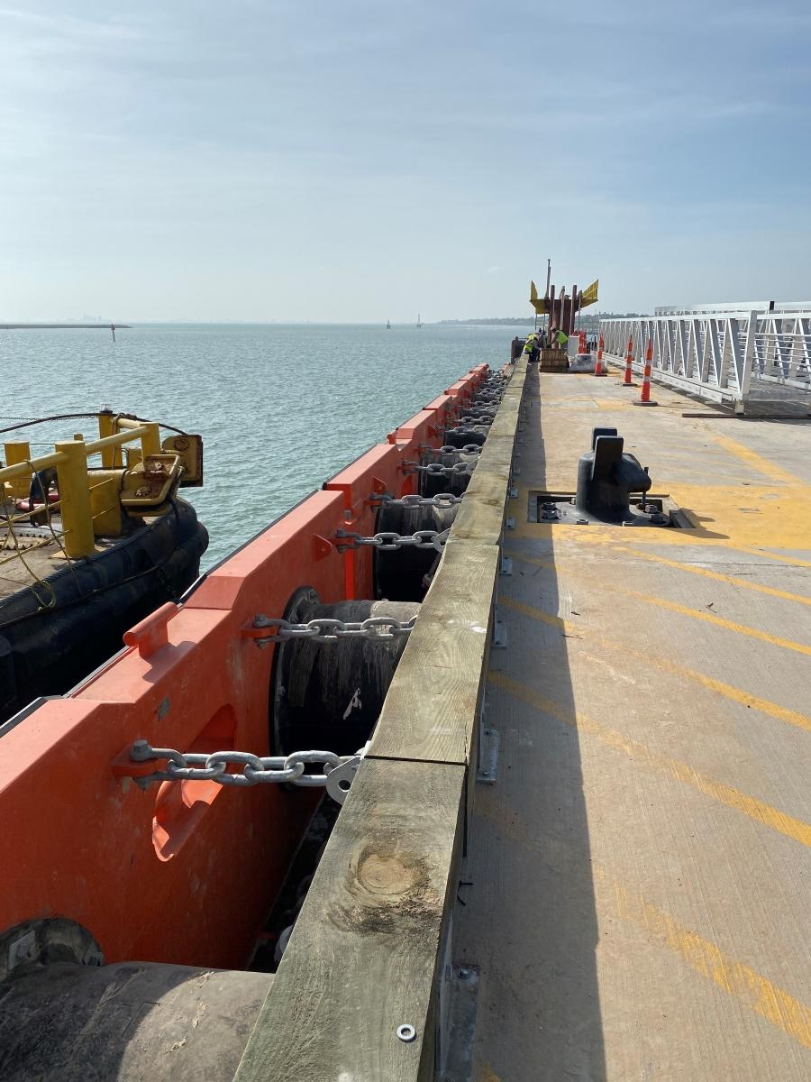 ShibataFenderTeam has delivered highly engineered fender wall to Corpus Christi, TX